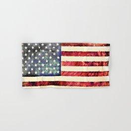 Vintage American Flag Hand & Bath Towel