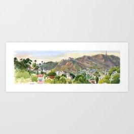 Los Angeles Hill in November Art Print