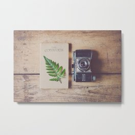 all you need for a weekend in the country ... a travel guide & a vintage camera Metal Print