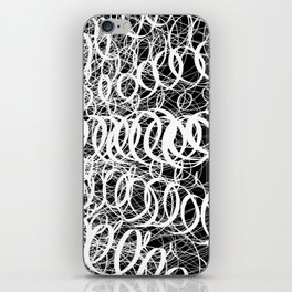 Black Spiral Swirls Reverse iPhone Skin