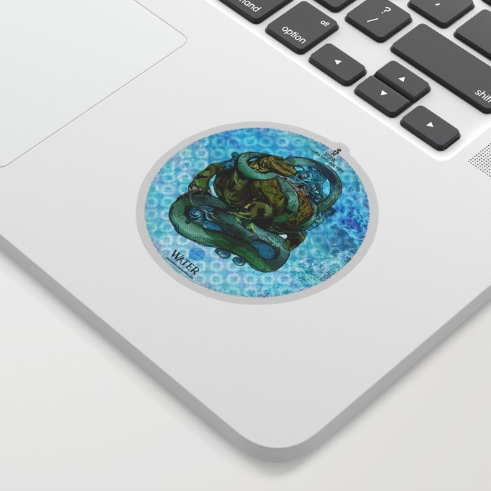 Mysticx & Magick - The Elementals: Genbu, The Water Tortoise of the Northern Tides Sticker