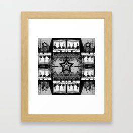 Masking The Inhuman Populace Framed Art Print