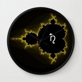 Black Borealis Wall Clock