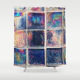 Iridescent Squares Shower Curtain
