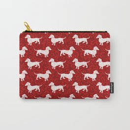 Merry Christmas Dachshunds Carry-All Pouch