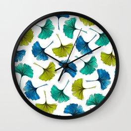 Ginkgo Flush Wall Clock