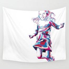 Little Girl Wall Tapestry