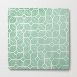 Shanghai - Hemlock / Mint / Jade Retro Geometric  Metal Print