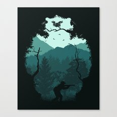 Hunting Season - Blue Canvas Print
