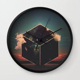 SpaceCube Wall Clock