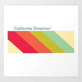 California Dreamin' Retro Art Print