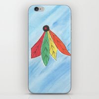 blackhawks iPhone & iPod Skins featuring Feathers by Smash Art