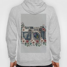 Camera with Summer Flowers Hoody
