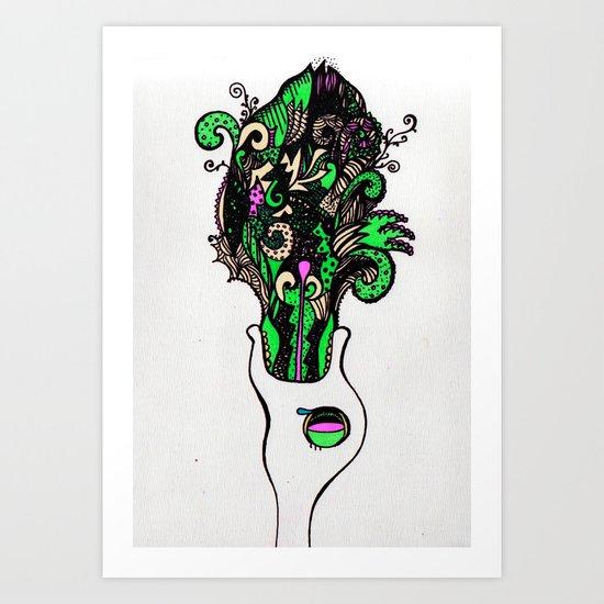 the F vomit Art Print
