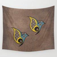 persian Wall Tapestries featuring Persian Bird by Katayoon Photography