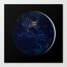 City Lights (Globe) Canvas Print