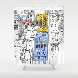 Clean 1, 2, 3, 4 Shower Curtain