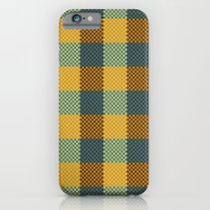 Pixel Plaid - Winter Walk iPhone 6s Slim Case