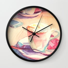 Two cups of coffee Wall Clock