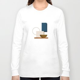 Abstrato 01 // Abstract Geometry Minimalist Illustration Long Sleeve T-shirt