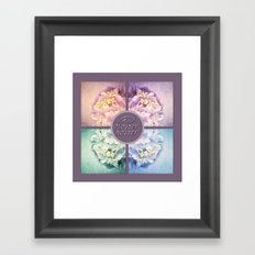 HYDRANGEA COLLAGE Framed Art Print