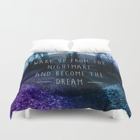 nightmare Duvet Covers featuring Nightmare by Sam Thorpe