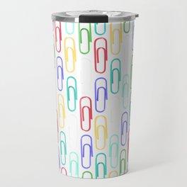 Paper Clips Pattern Travel Mug