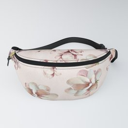 Watercolor Pink Magnolia Blossoms Fanny Pack