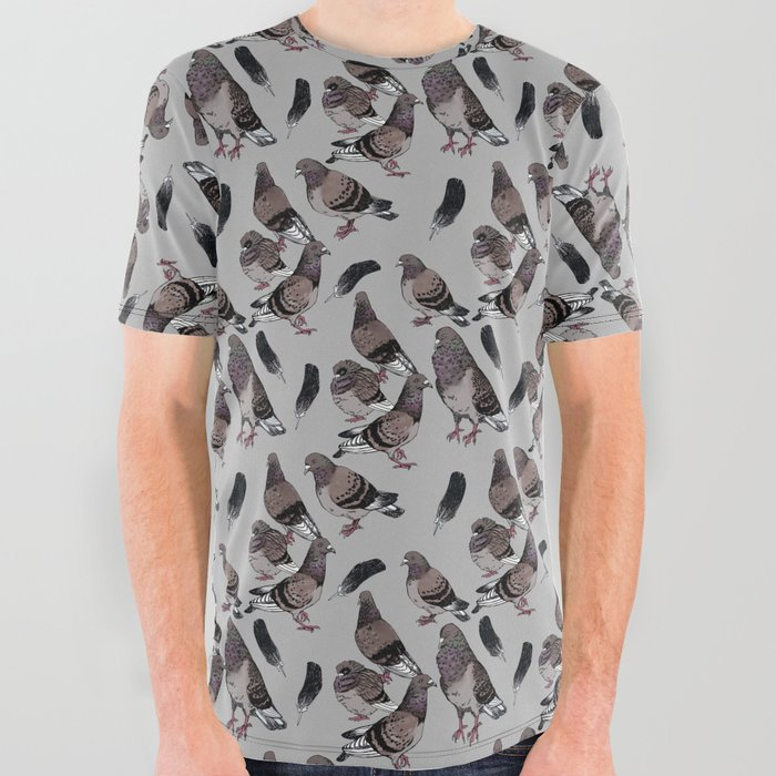 Pigeon Pattern 2 All Over Graphic Tee