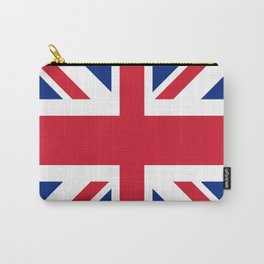 red white and blue trendy london fashion UK flag union jack Carry-All Pouch