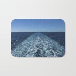 SEA BLUE WAKE AND HORIZON - Pacific Ocean Bath Mat