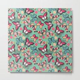 Butterfly pattern 001 Metal Print