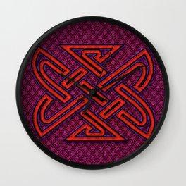 CELTIX #2.2 Vibrant Psychedelic Celtic Optical Illusion Design Wall Clock