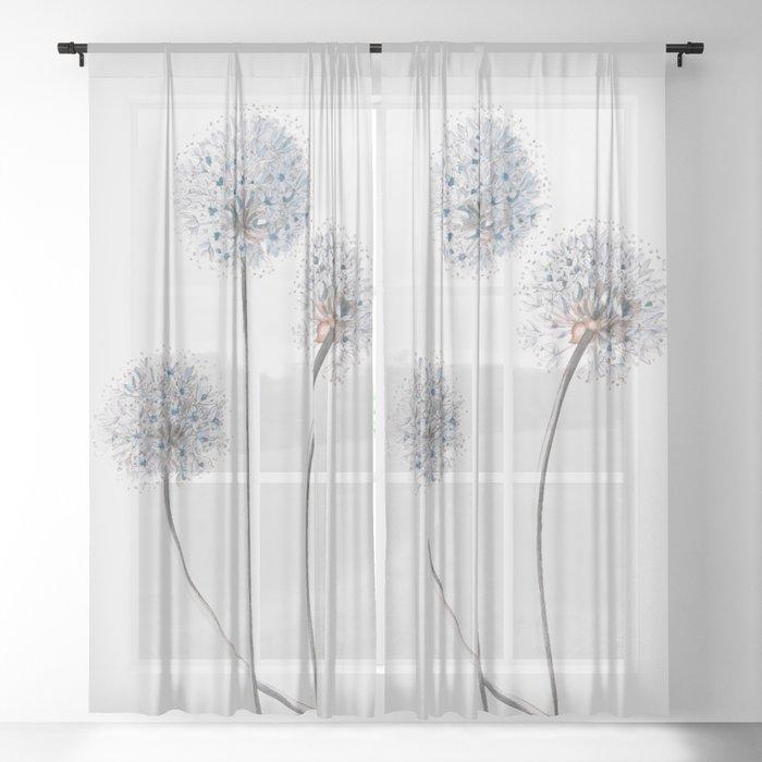 Dandelion 2 Sheer Curtain By Andreas12, Dandelion Print Curtains