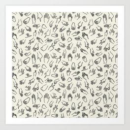 Mixed Signals Pattern in Oat Art Print