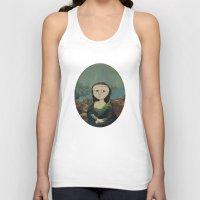 mona lisa Tank Tops featuring Mona Lisa by Chris Talbot-Heindl
