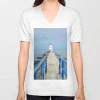 lighthouse V-neck T-shirts featuring Lighthouse by MelissaLaDouxPhoto