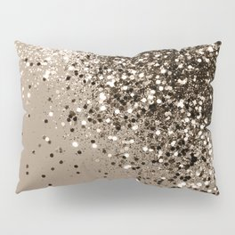 Sparkling Sepia Lady Glitter #1 #shiny #decor #art #society6 Pillow Sham