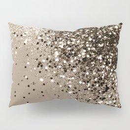 Sparkling Sepia Lady Glitter #1 #shiny #decor #art #society6 Pillow Sham