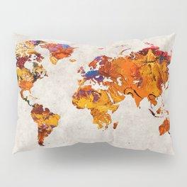 World Map 58 Pillow Sham