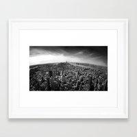 manhattan Framed Art Prints featuring Manhattan by Xbird