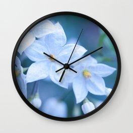 Jasmine Nightshade Flowers #1 #floral #art #society6 Wall Clock