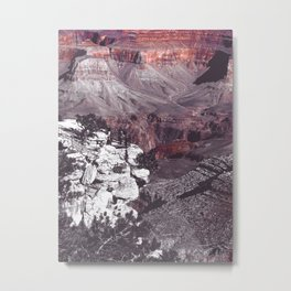 At Grand Canyon national park, USA in black and white Metal Print