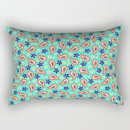 Colorful mint paisley Rectangular Pillow