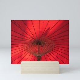 Red Parasol Mini Art Print