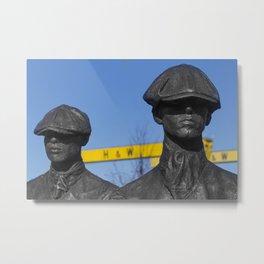 Yardmen statues at Harland and Wolff shipyard Metal Print