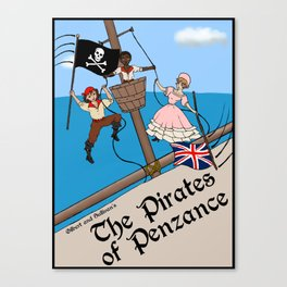 Pirates of Penzance Poster Canvas Print