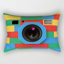 rainbow retro classic vintage camera toys Rectangular Pillow