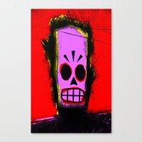 grim fandango Canvas Prints featuring Manny Calavera, Red version (Grim Fandango) by acefecoo