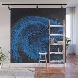 art blue and black design Wall Mural